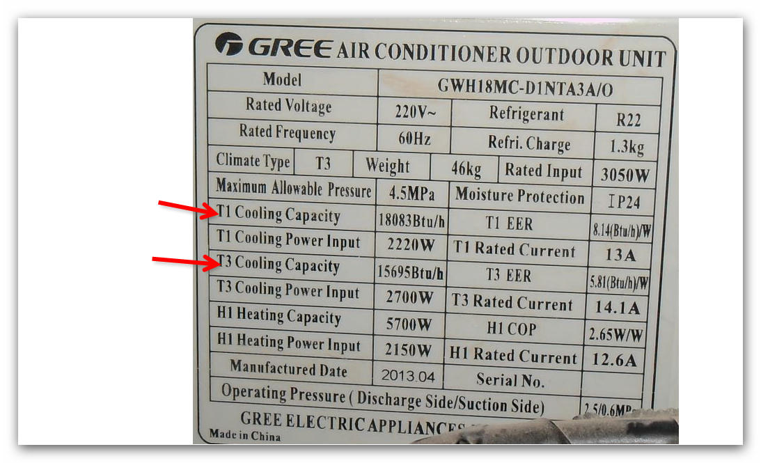 Air Conditioner Name Plate Codes Definition Hvac Pro Forums