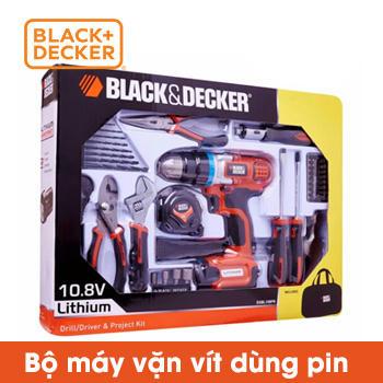 Bộ máy vặn vít dùng Pin Black Decker 10.8v có phụ kiện