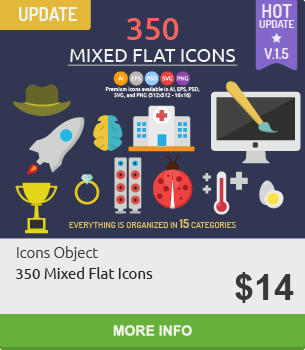 Mixed Flat Icons 3