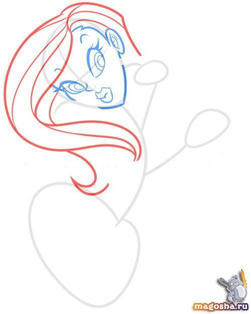 Как нарисовать селфи девушки