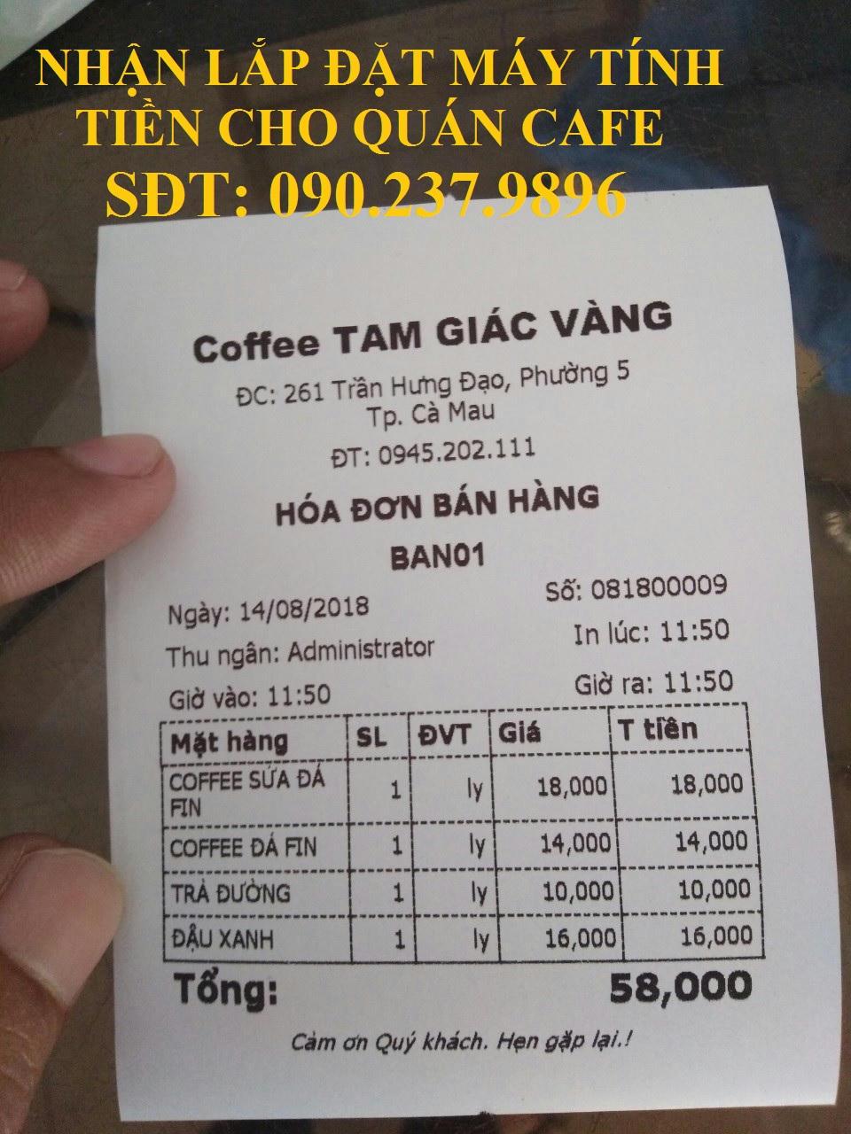 Bán máy tính tiền cho quán cafe giá rẻ tại Củ Chi