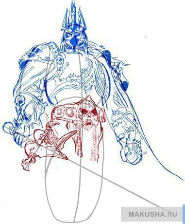 Рисуй лезвия меча по шагам