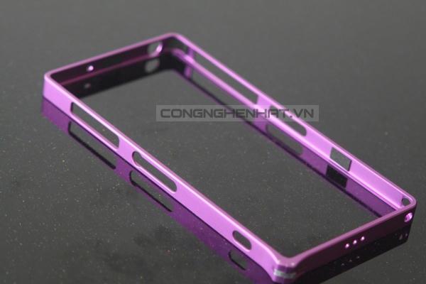 Ốp viền Sony Xperia Z2 Aluminum cao cấp- khóa gài