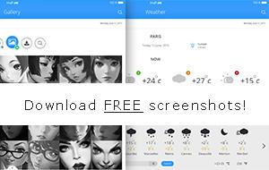 PICCO |  UI - UX Kit iPad Tablet App