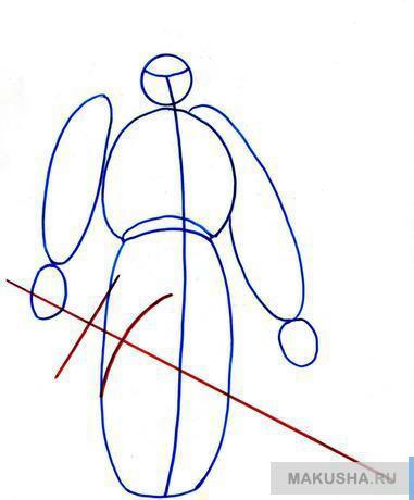 Рисунок лезвия меча карандашом
