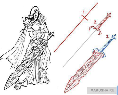 Как научиться рисовать меч