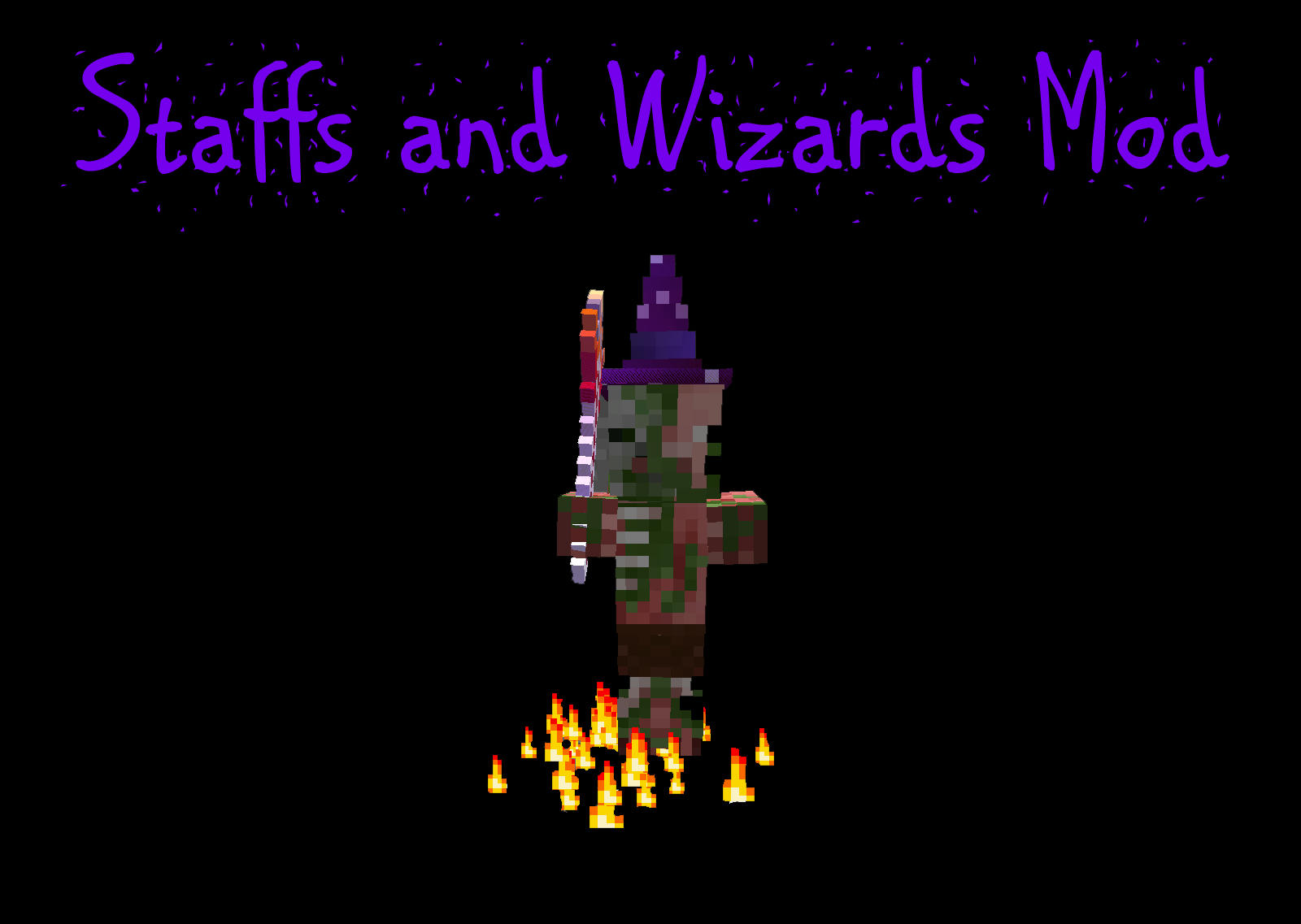 the staffs mod adds in wizards and tons of different staffs with different powers in your minecraft world