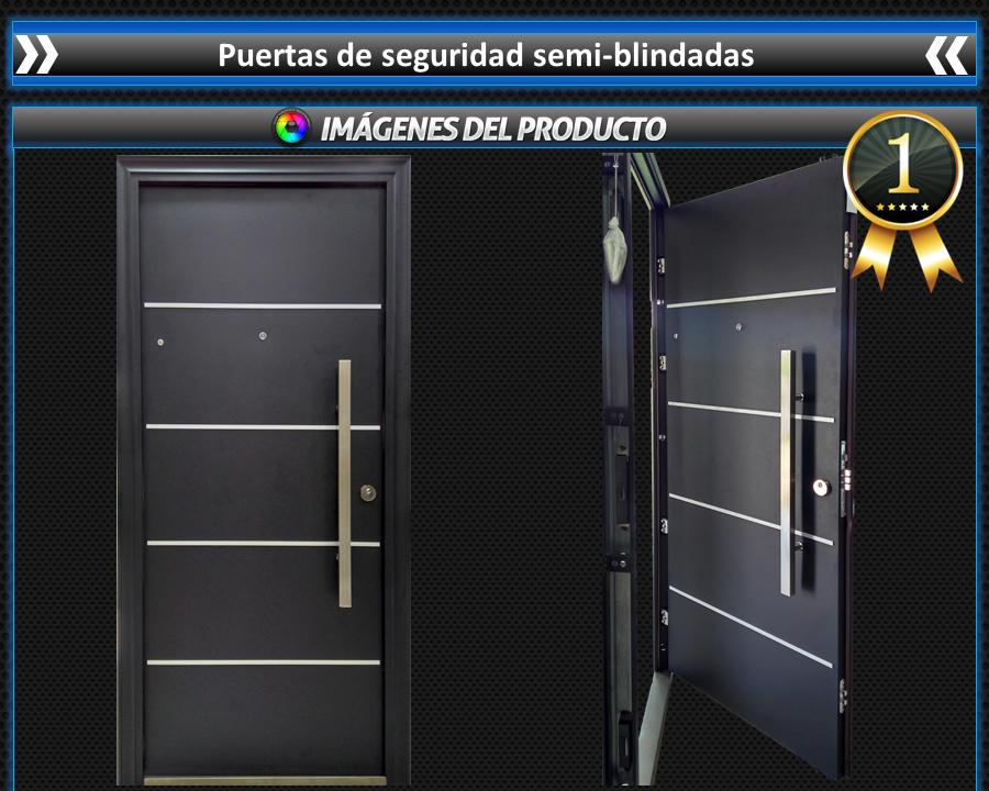 Puertas galvanizadas de seguridad semi blindadas 19 for Puertas galvanizadas