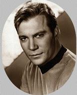 Capitán de la Flota Estelar James Tiberius Kirk, al mando de la nave estelar Enterprise, interpretado por el actor estadounidense William Shatner, en la serie original de la saga Star Trek