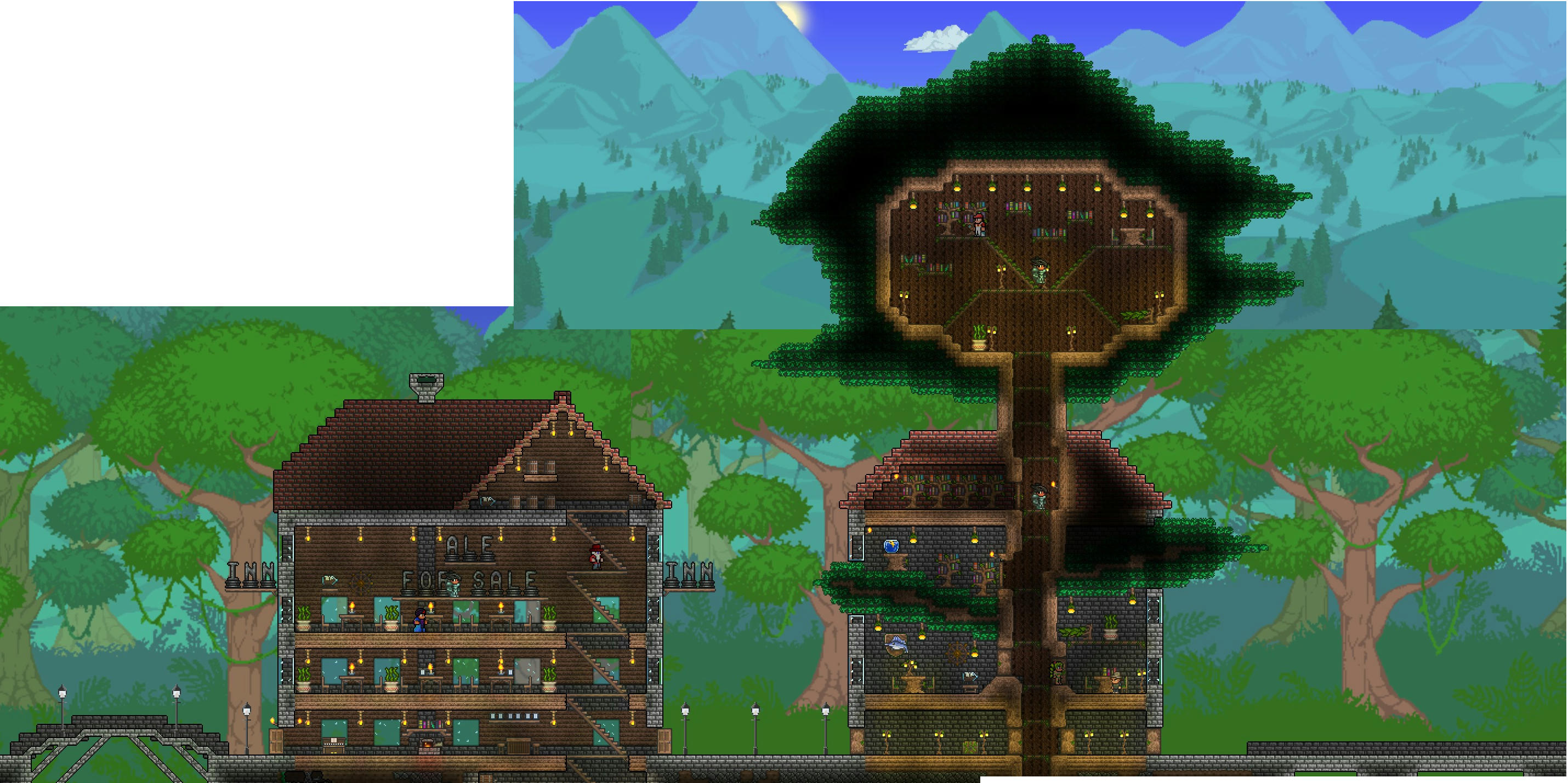 How To Make A Underground House Wip Marcs Terraria World Terraria Community Forums