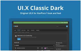 قالب UI.X Classic Dark لاتین