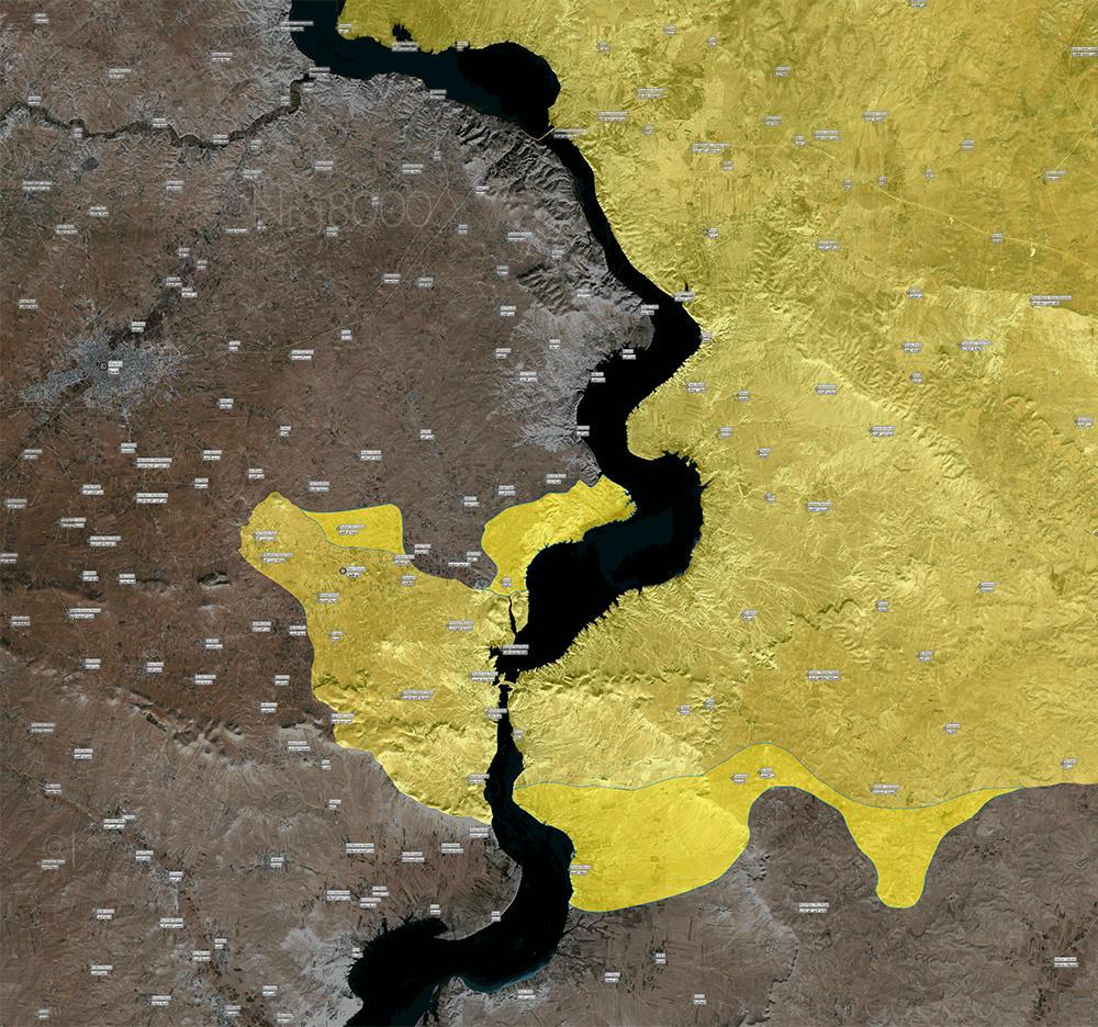 Avanzata curda/SDF verso Manbij e Raqqa, dopo aver attraversato l'Eufrate, 31 maggio-4 giugno - fonte: Conflict News