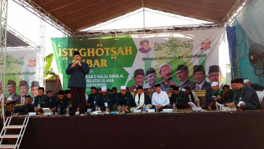 Sebelum Pelantikan, MWCNU Gempol Laksanakan Istighosah Akbar