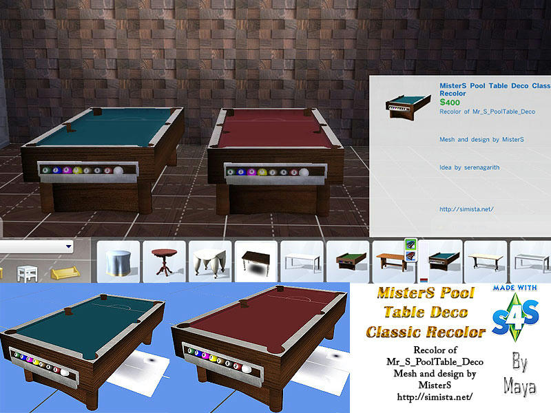 MisterS Pool Table Deco Classic Recolor