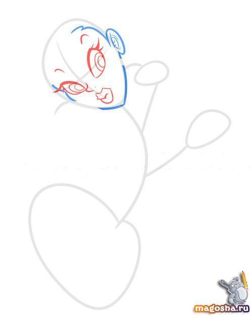 Рисуем поэтапно селфи девушки