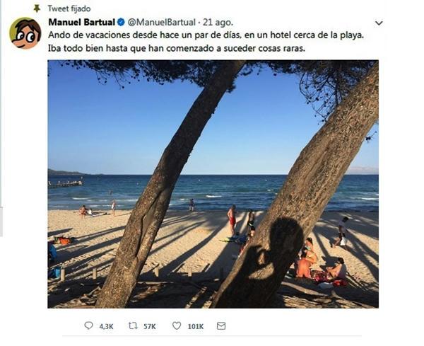El thriller en Twitter de Manuel Bartual que tiene en vilo a sus 400 mil seguidores