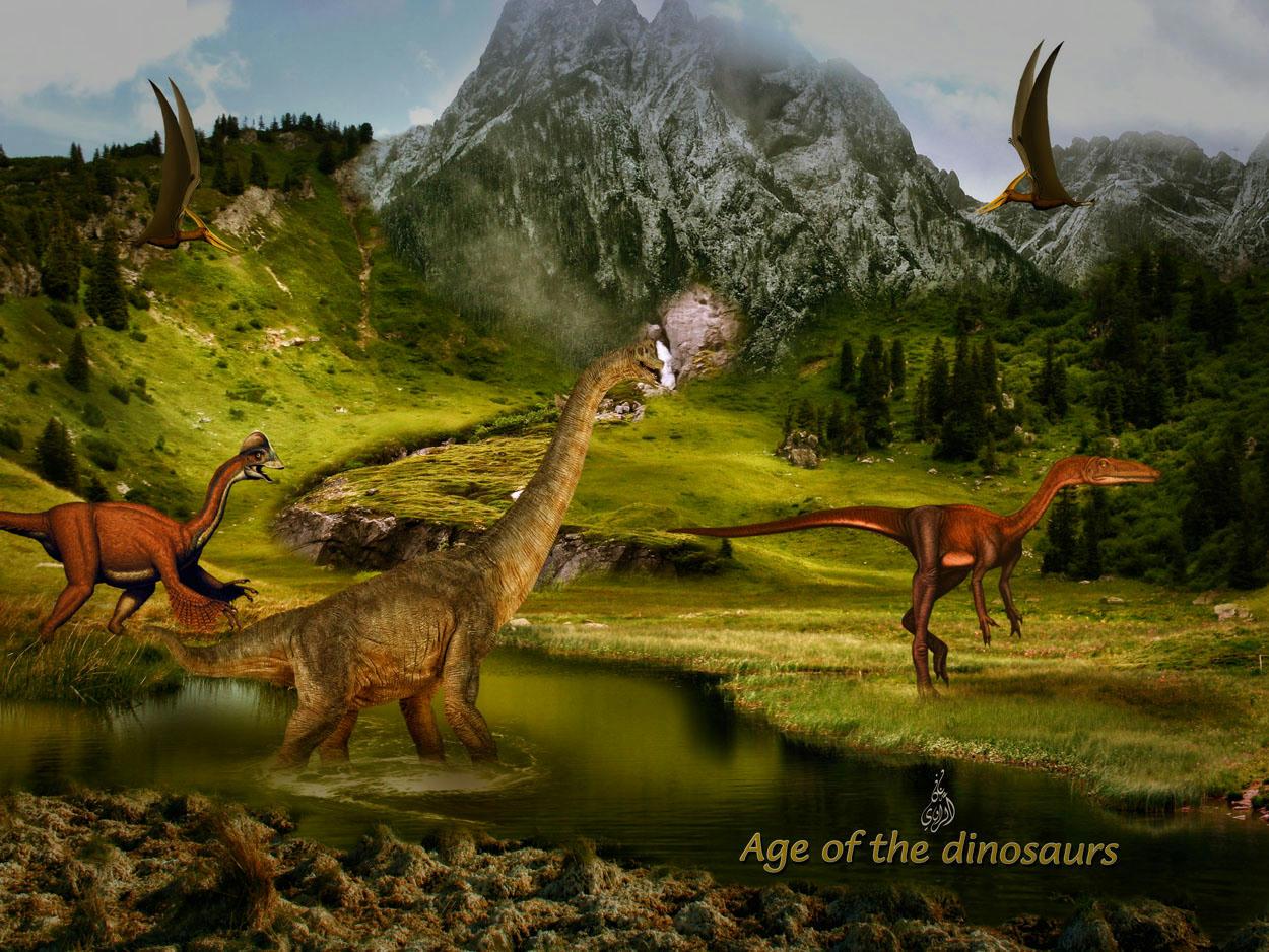تصميم بعنوان (Age of the dinosaurs)