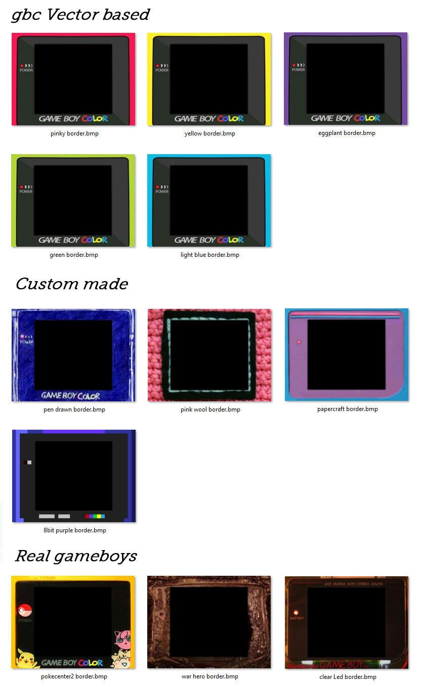 Gameboy color palettes -  Img