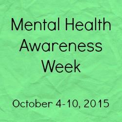 mental health awareness week 2015