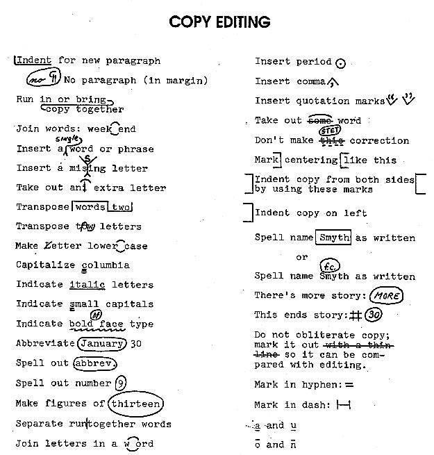 English Writing Correction Symbols