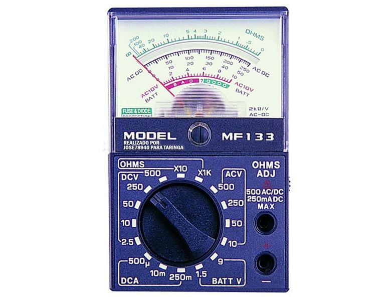 Como usar un multimetro, tester o polimetro analogico