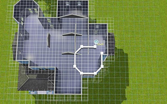 [Débutant] - Du carré à la maison victorienne - La maison bleue B30la7323ycgtbuzg