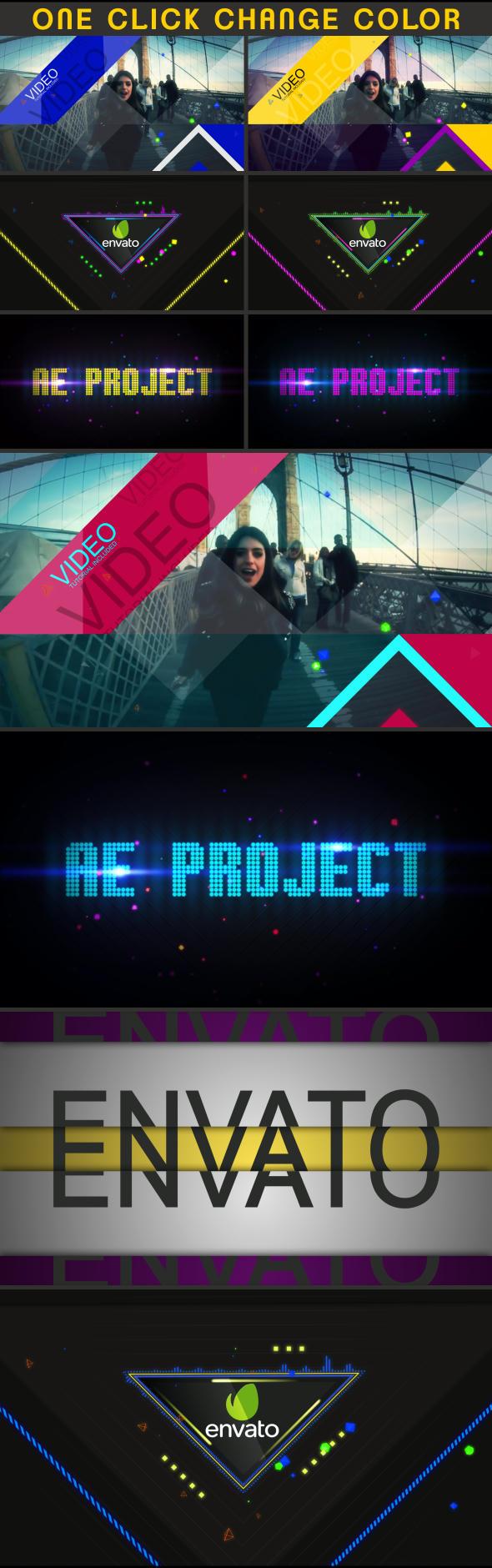 音乐盛典音乐晚会音乐party开场AE模板 videohive Music Event