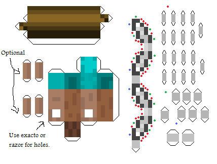 Muñecos de minecraft de papel (Papers Toys)