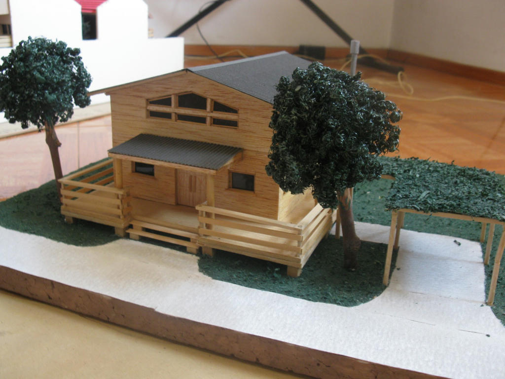 Maqueta de una casa de palitos mejor conjunto de frases - Como se hace una casa de madera ...
