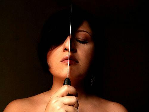 woman knife