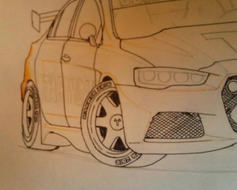 Max KCR Motorblog: [Tutorial] dibujando autos a mano - parte III ...