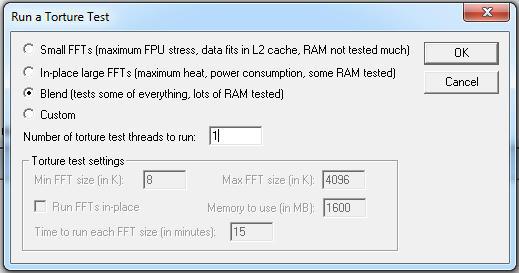 Prime95 Configuration Dialog