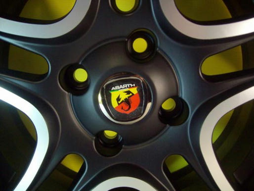Alloy Wheels Center Caps Abarth Fiat Grande Punto Panda 500 Badge