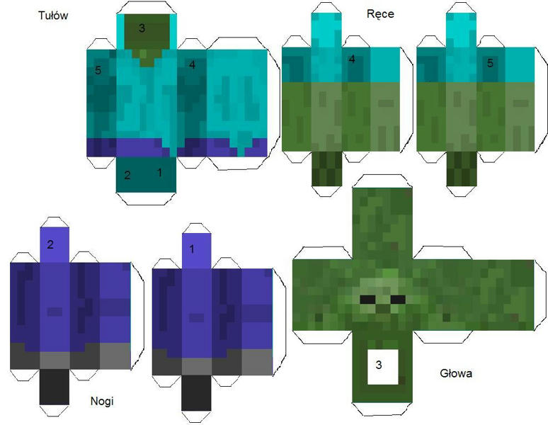 Minecraft Zombie Papercraft Images & Pictures - Becuo