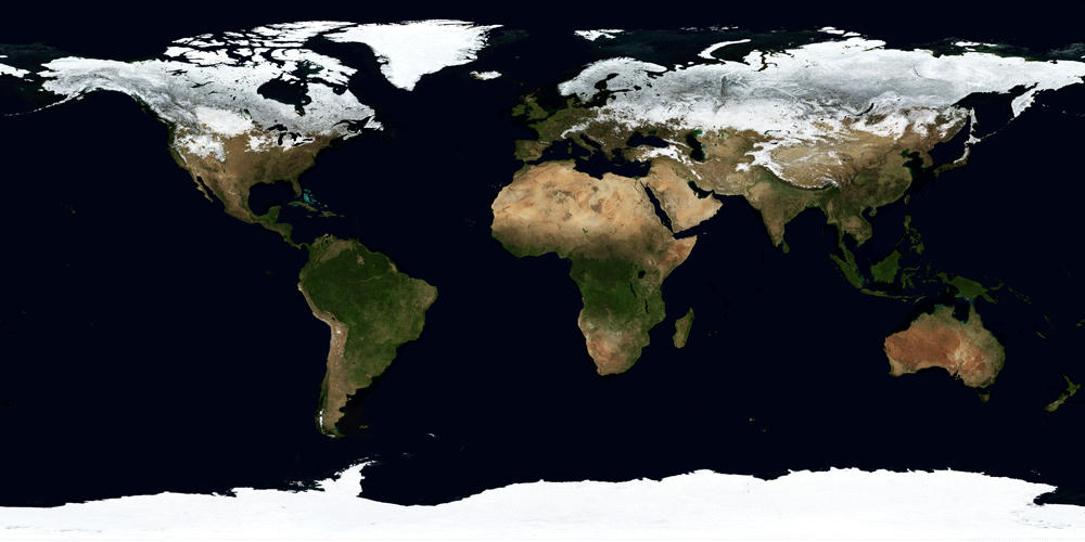 TimeLapse Of Satellite Photos Shows The Passing Of Seasons On Earth - World satellite picture