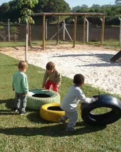 Crianças da EMEI Cacilda Caputo, em Bebedouro (SP) (Foto cedida por Giselle Gallo)