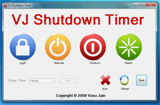 Cyber Dimensions    : VJ Shutdown Timer