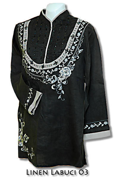Muslimah Fashion Blogger on Muslimah Fashion House  Exclusive Linen Embroidered Blouse