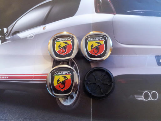 Alloy Wheels Center Caps Abarth Fiat Grande Punto Panda 500 Badge Emblem 50mm