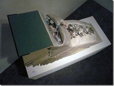 acb3b722e6552bb3b456a55609330062a852e73a04a2dc976c4dec506d27335b6g - Book Sculpture