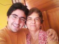 con tía Amparo