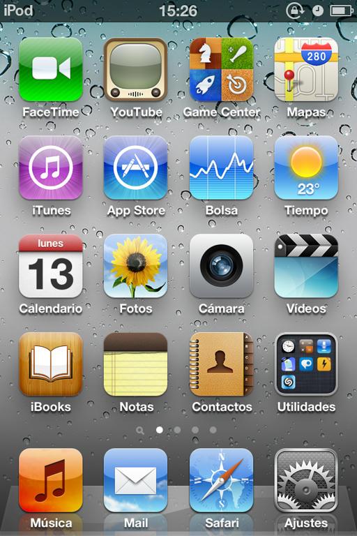 ipod 4 generación