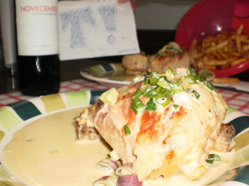 hice pollo al verdeo (a la crema) y te lo muestro