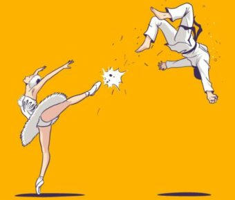 ballet, taewondo, martial arts, chuck norris, okama kempo, sanji, one piece, falcon punch