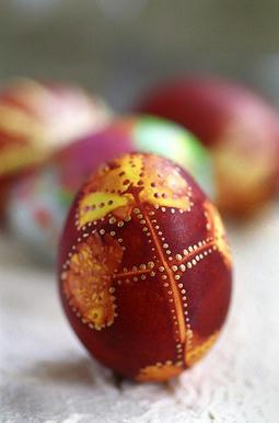 velikonoční vajíčko barvené