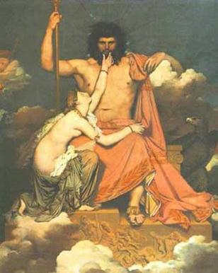 Πίνακας του Jean-Auguste-Dominique Ingres, «Δίας και Θέτις» 1811