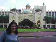 Vivian in front of the Palace of the Golden Horses