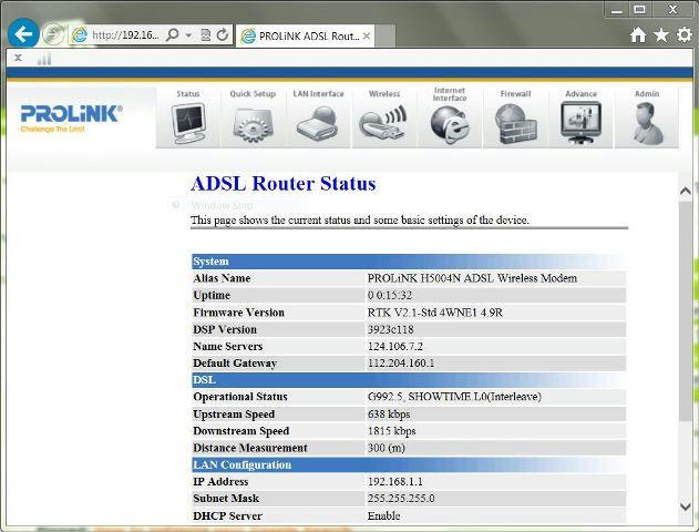 PLDT Prolink H5004N Configuration and Firmware upgrade   PinoyDSL Net