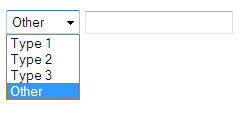 How to Show/Hide text box when select from dropdown list