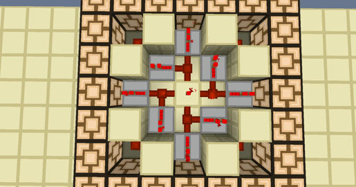 Redstone lamp wiring help redstone discussion and mechanisms the secret is the dot of redstone being powered by a block that is powered by a repeater only problem is this occupies the floor level making it a hassle aloadofball Images